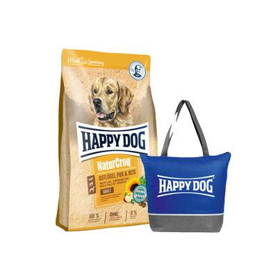 Happy Dog NaturCroq  Geflügel&Reis + ajándék hűtőtáska