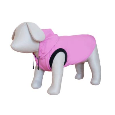 Kutya dzseki, vízhatlan, kapucnis patentos PINK M 45CM