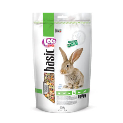 Lolo Basic - Complete food for rabbit 600 g Doypack