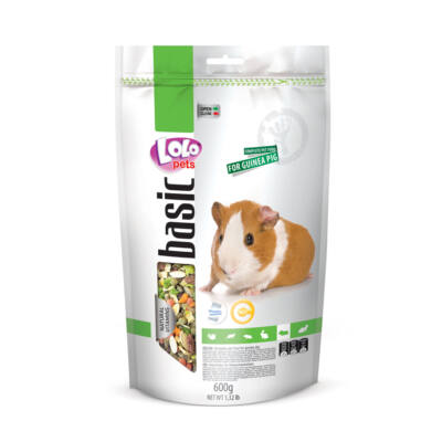 Lolo Basic - Complete food for guinea pig 600 g Doypack