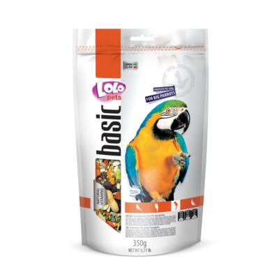 Lolo Basic - Complete food for big parrots 350g Doypack