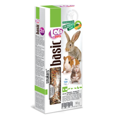 Lolo Basic - Vegetable SMAKERS (dupla rúd) for rodents & rabbit 90 g