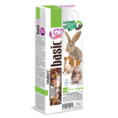 Lolo Basic - Carob SMAKERS (dupla rúd) for hamster & rabbit 90 g