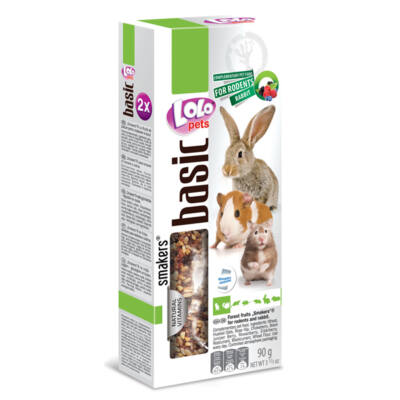 Lolo Basic - Forest fruits SMAKERS (dupla rúd) for hamster & rabbit 90 g