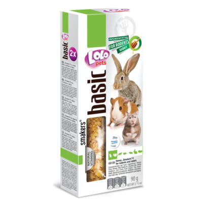 Lolo Basic - Honey SMAKERS (dupla rúd) for rodents & rabbit 90 g