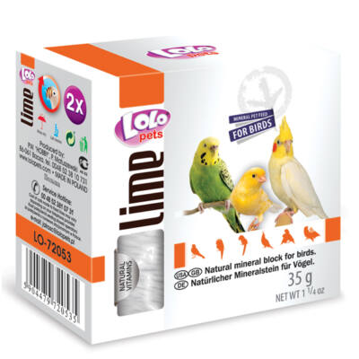 Lolo Lime - Natural mineral block for birds 35 g