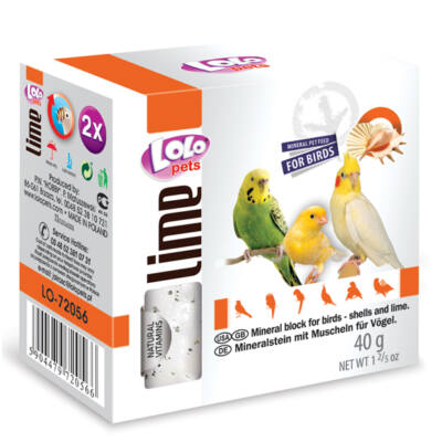 Lolo Lime - Mineral block with shells for birds 40 g