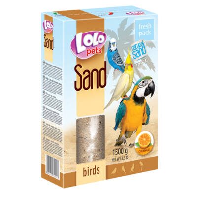 Lolo Orange sand for birds 1,5 Kg