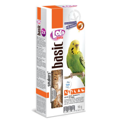 Lolo Basic - Honey SMAKERS (dupla rúd) for budgie 90 g
