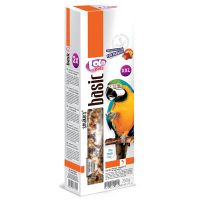 Lolo Basic - Nut /fruit SMAKERS (dupla rúd) for big parrots XXL 250 g
