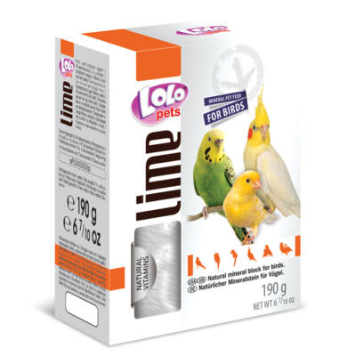 Lolo Lime - Natural mineral block for birds XL 190 g