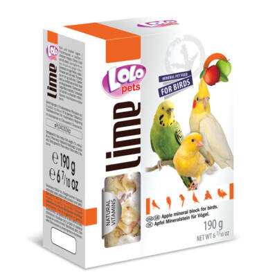 Lolo Lime - Apple mineral block for birds XL 190 g