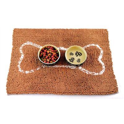 Soggy Doggy itató-etető tál alátét szőnyeg - karamell