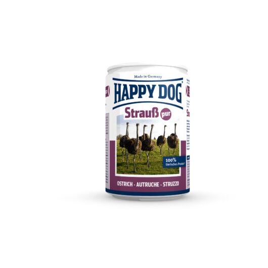 Happy Dog Strauss Pur - Strucc húsos konzerv 12x400 gr