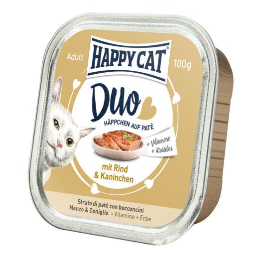Happy Cat Duo pástétomos falatok marha-nyúl 100 g 70174