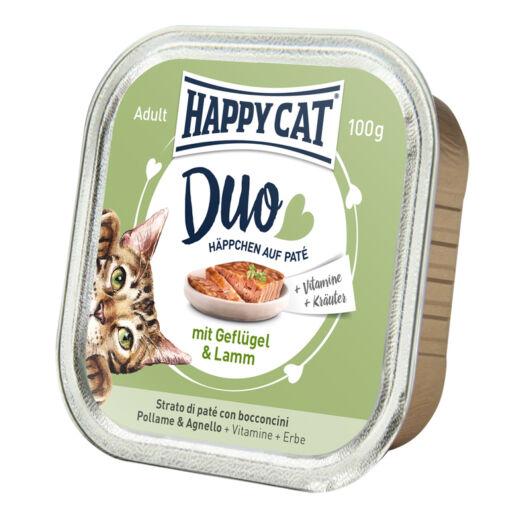 Happy Cat Duo pástétomos falatok szárnyas-bárány 100 g 70176