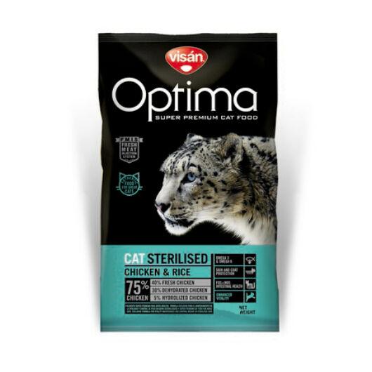 Visán Optimanova Cat Sterilised 0,4 kg macskatáp