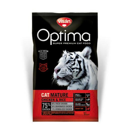 Visán Optimanova Cat Mature 0,4 kg macskatáp