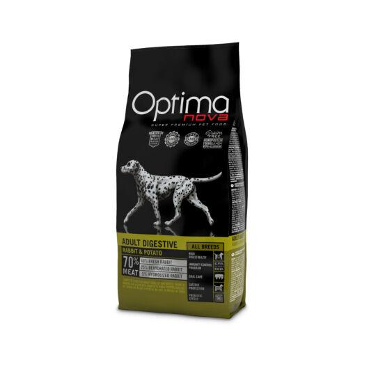 Visán Optimanova Dog Adult Digestive Rabbit & Potato (27/16) GABONAMENTES