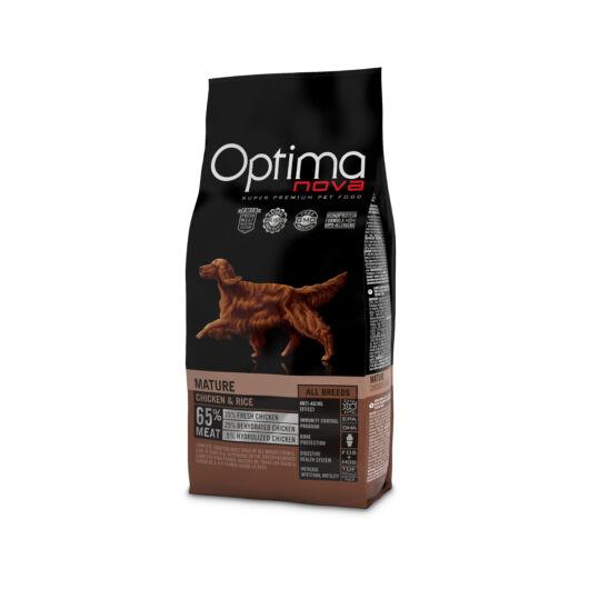 Visán Optimanova Dog Mature Adult Chicken & Rice (25/15) - idős kutyák számára