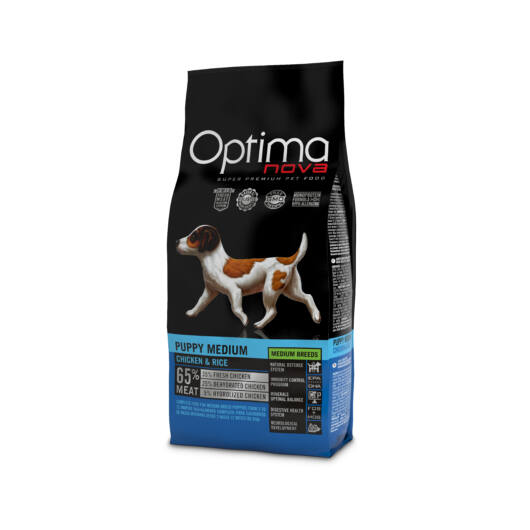 Visán Optimanova Dog Puppy Medium Chicken & Rice (30/19)