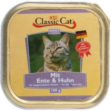 Classic Cat kacsás és csirkés alutálkás macskaeledel 100 g