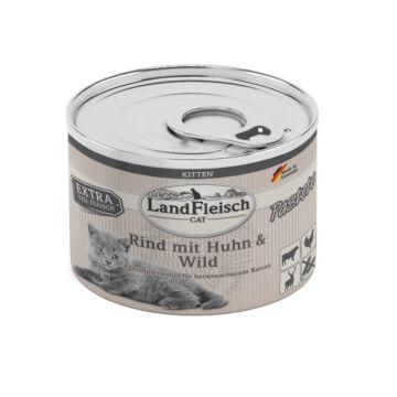Landfleisch Cat Kitten Pastete Rind+Huhn+Wild  195 g