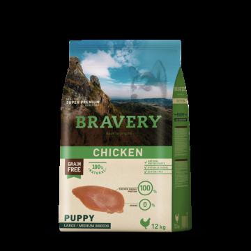 bravery dog puppy chicken