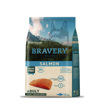 bravery dog adullt salmon