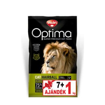 Visán Optimanova Cat Hairball 7+1 kg