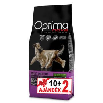 Visán Optimanova Dog Adult Medium Chicken&Rice 10+2 kg