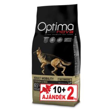 Visán Optimanova Dog Adult Mobility Chicken&Rice 10+2 kg