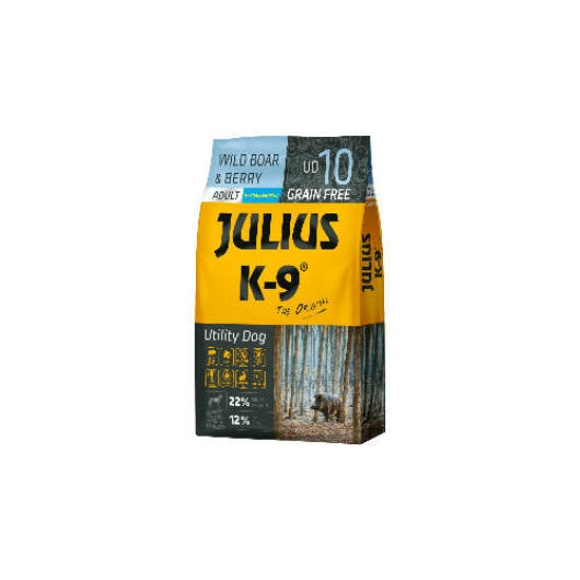 Julius K-9 Grain Free Adult Utility Dog - Wild Boar & Berry 10 kg