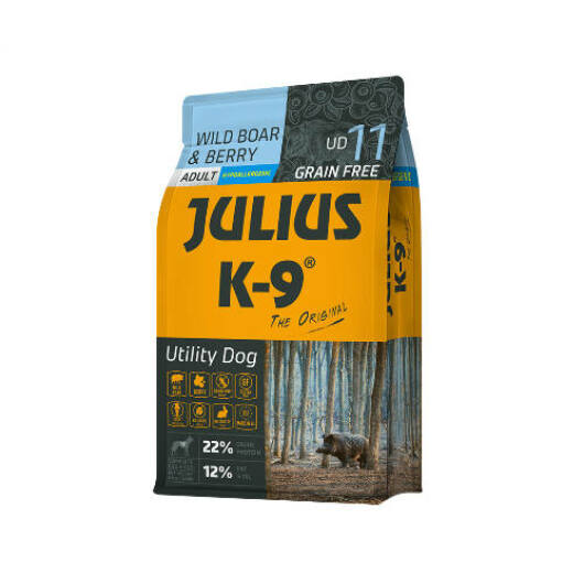Julius K-9 Grain Free Adult Utility Dog - Wild Boar & Berry 3 kg