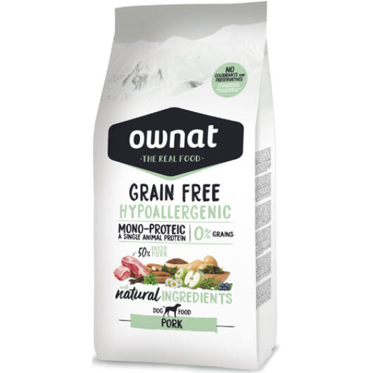 Ownat Dog Grain Free Hypo Pork 14 kg