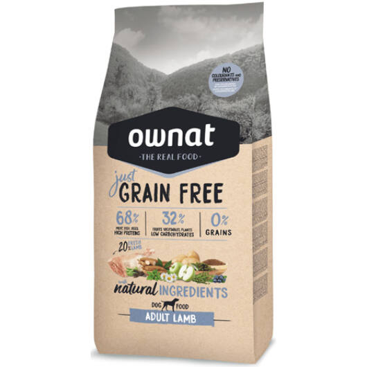 Ownat Dog Just Grain Free Adult Lamb 14 kg