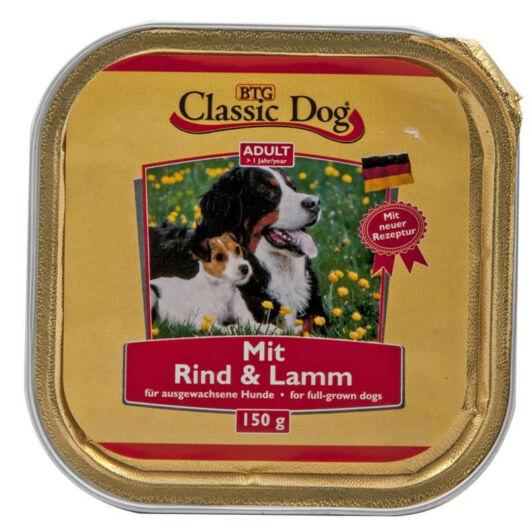 Classic Dog alutálkás kutyakonzerv marhahússal és báránnyal 150g