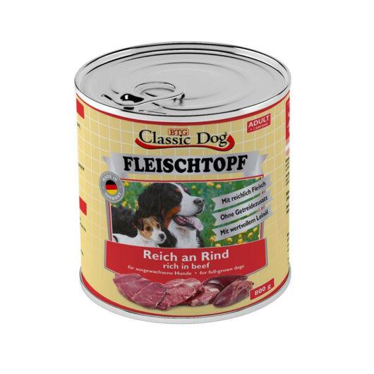 Classic Dog Dose Fleischtop Adult kutyakonzerv marhahússal 800 g