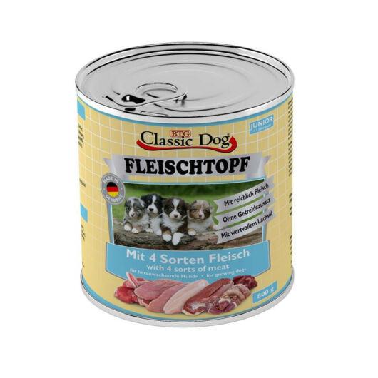 Classic Dog Dose Fleischtop Junior kutyakonzerv négyféle hússal 800g