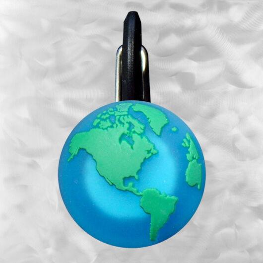 ClipLit LED  green earth - földgömb