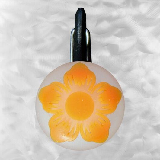 ClipLit LED orange wild flower - narancs virág