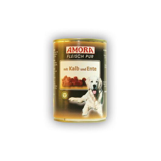 Amora Fleisch Pure mit Kalb und Ente (színtiszta hús borjú- és kacsahússal) 400 gr