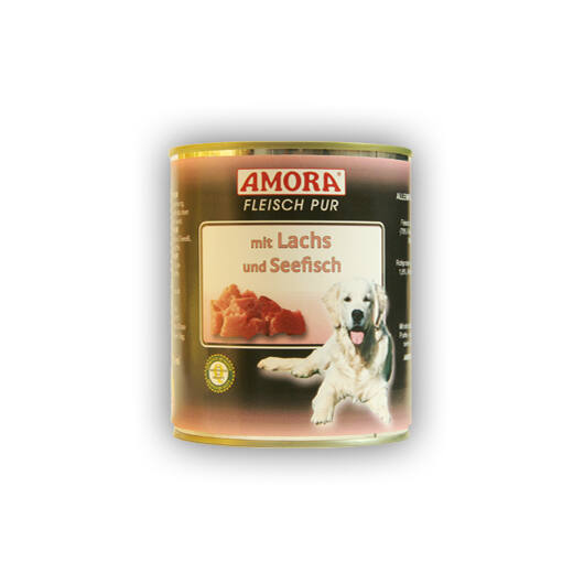 Amora Fleisch Pure mit Lachs und Seefisch (színtiszta hús lazaccal és tengeri hallal) 800 gr