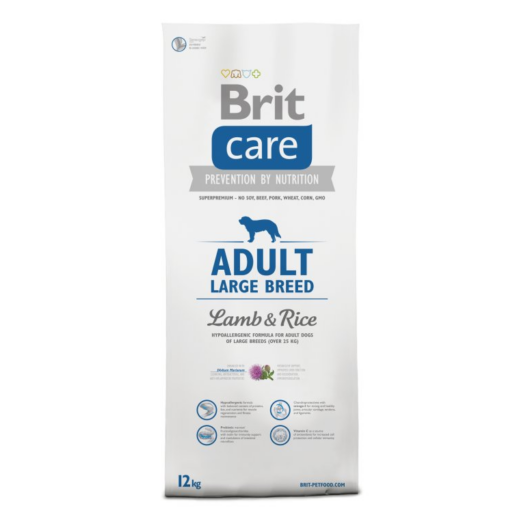 BRIT Care Hypo-allergenic Adult Large Breed Lamb&Rice 12