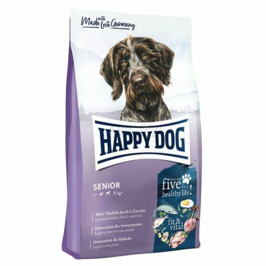 happy dog senior