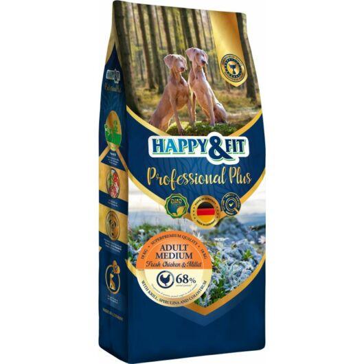 Happy&Fit Professional Plus Adult Medium Fresh Chicken&Millet 18kg (15kg+3kg ajándék)