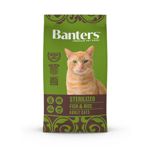 Visán Banters Cat Sterilised Fish&Rice 2 Kg