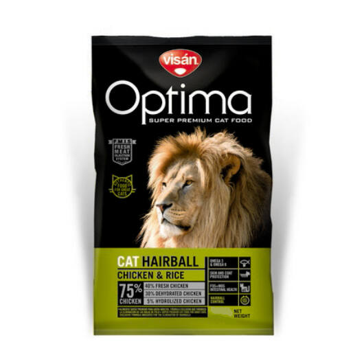Visán Optimanova Cat Hairball 2 kg macskatáp