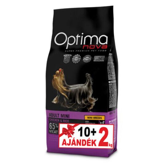 Visán Optimanova Dog Adult Mini Chicken&Rice 10+2 kg