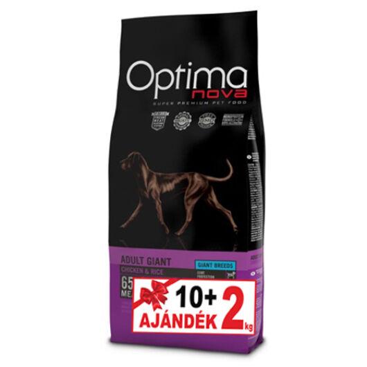 Visán Optimanova Dog Adult Giant Chicken&Rice 10+2 kg